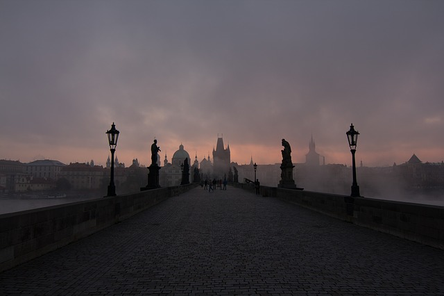 mlha nad mostem