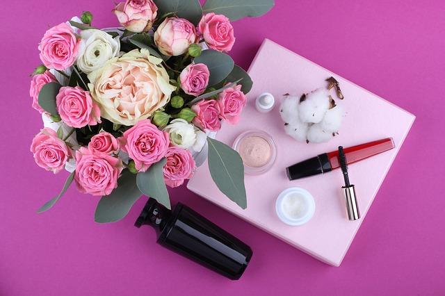 kosmetika a květiny